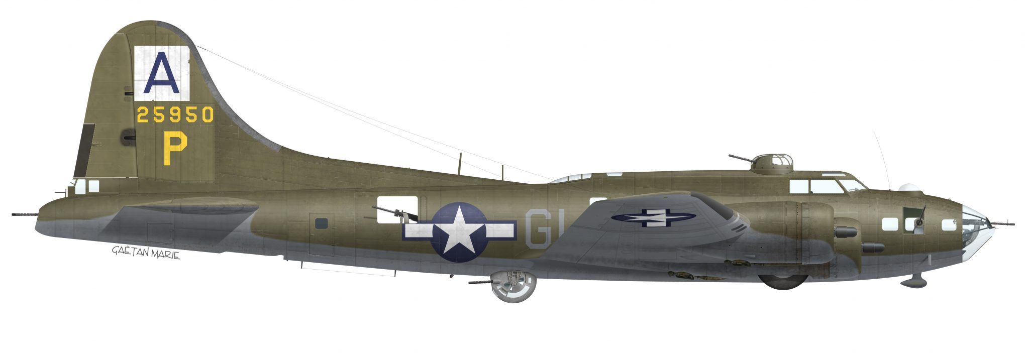 USAAF, B-17F-35-VE 42-5950, Peters Pride, 410 BS, 94 BG, 1943