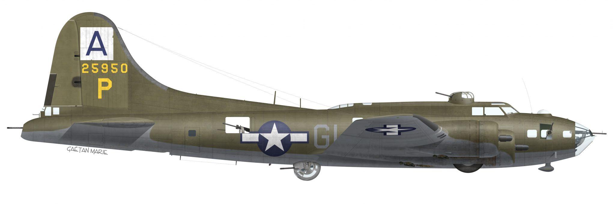 USAAF, B-17F-35-VE 42-5950, Peters Pride, 410 BS, 94 BG, 1943
