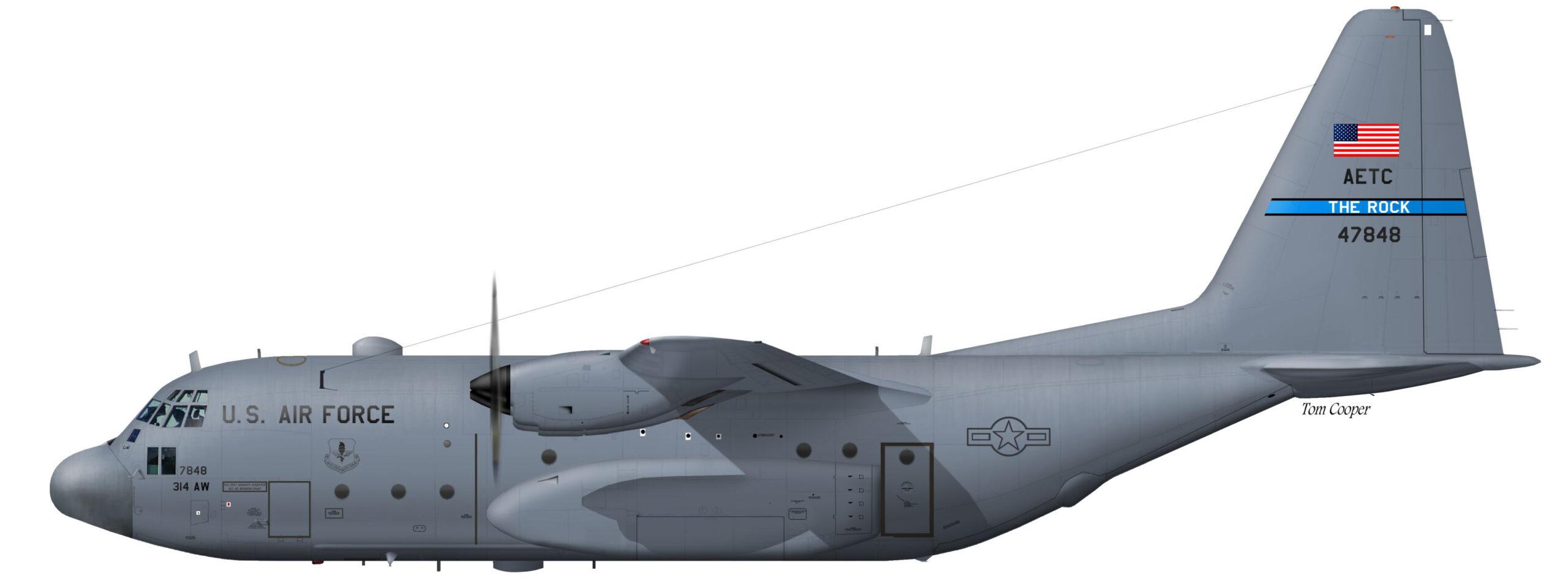 USAF C-130E 64-7848