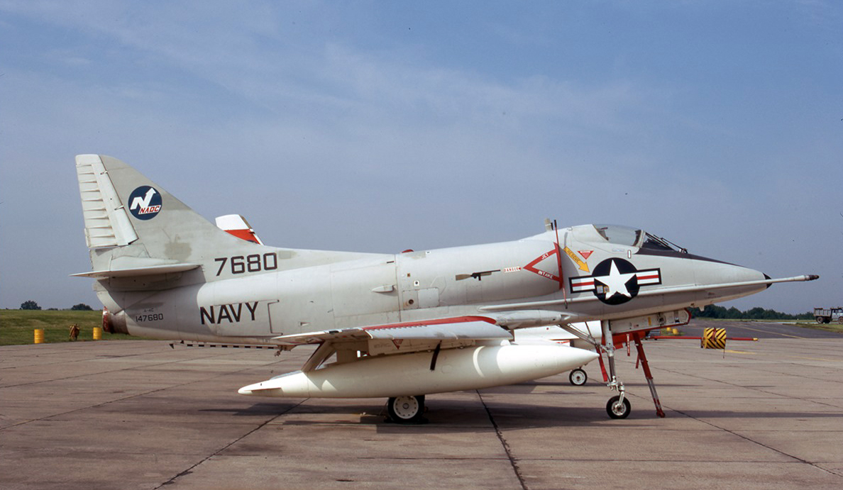 Former NAF China Lake A-4C Skyhawk BuNo 147680, NADC Warminster,