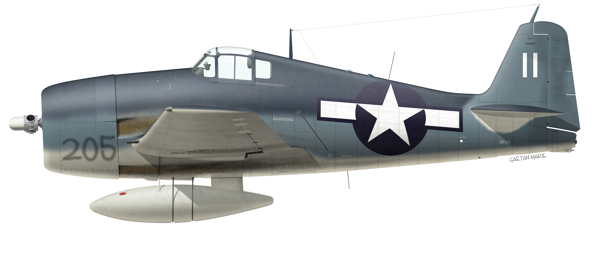 USN, F6F-3 BuNo xxxxx, Gus Sermos, VF-50, USS Bataan